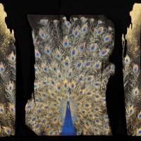 「金孔雀」100号(約161.5×31+約147×108+約161.2×31cm)
